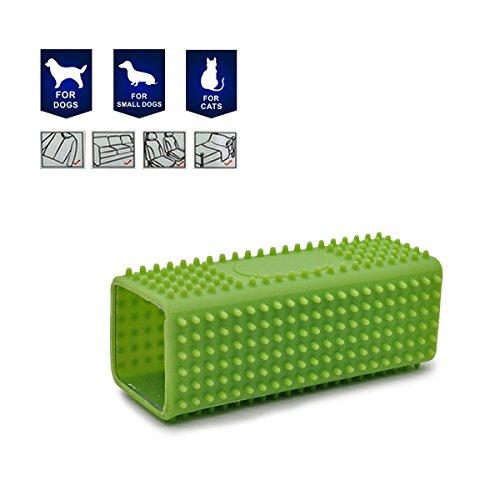 Creation® 2 in 1 ungiftiges Gummihohl Haustier Hund Katze Haarentferner Autos Möbel Teppich Kleidung Sofa Reinigungsbürste Farbe mag sich unterscheiden-1 PC - 2