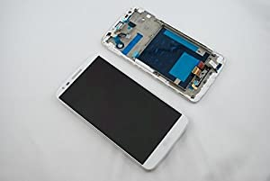 LG G2 D802 LCD Display Touch Screen Front Cover Glas Rahmen Komplett Original w