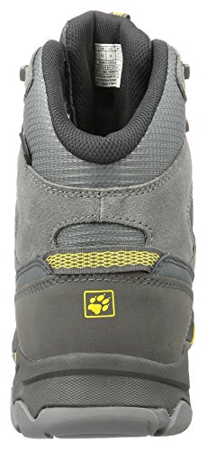 Jack Wolfskin Mtn Attack 5 Texapore Mid M, Chaussures de Randonnée Hautes Homme Gris (Burly Yellow Xt)