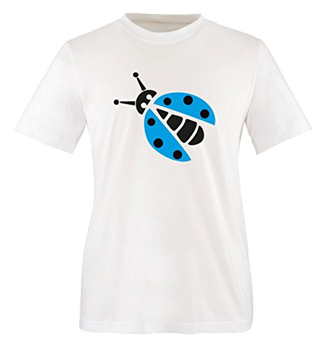 Comedy Shirts - MARIENKÄFER KOSTÜM - Herren T-Shirt - Weiss / Schwarz-Blau Gr. (Beauty Herren Beast Kostüm Tier)
