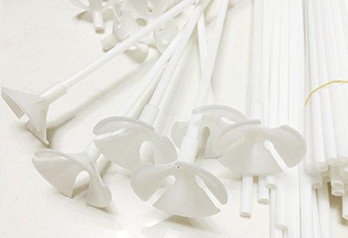 confronta il prezzo Monicaxin 100Pc Aste con valvola per palloncini, 42 cm, colore: bianco/white miglior prezzo