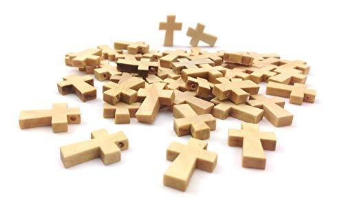 Sepkina Minni Holzkreuze Rosenkranz Kreuz Holzkreuz kruzifix Holz Kreuzchen Hellbraun (Braun)