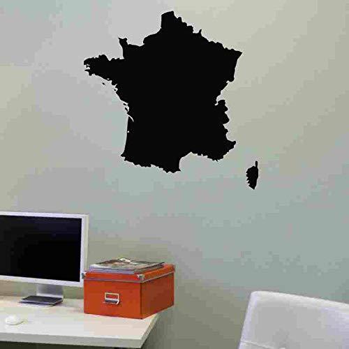 Frankreich Karte Aufkleber Aufkleber Poster Vinyl Wandtattoos Wandaufkleber Dekor Wandbild Karte Frankreich Karte Aufkleber 58X59CM