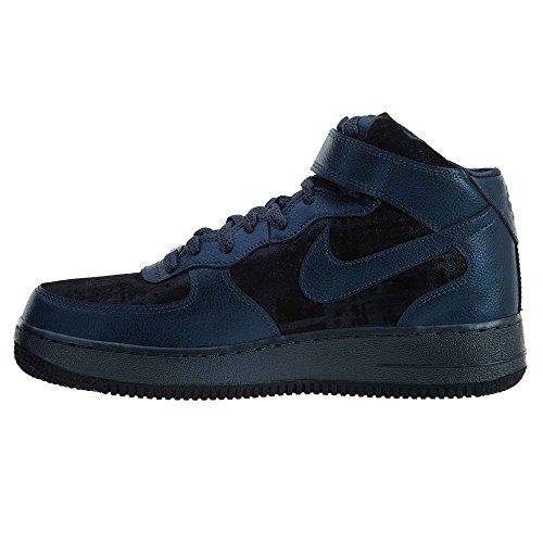 Nike W Air Force 1 '07 Mid Prm, Scarpe sportive Donna Metallic Armory Navy/Metallic Armory Navy