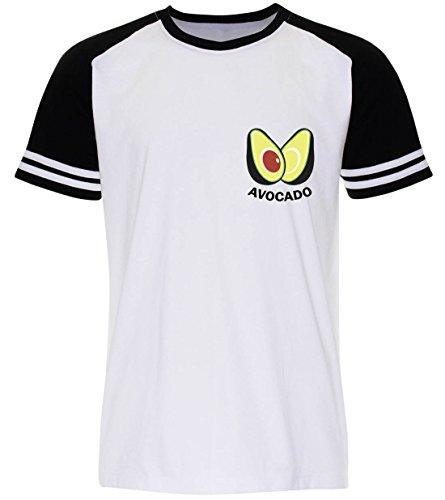 PALLAS Unisex's Avocado Funny Classic T-Shirt -PA365 (WB , XL) (Hoodie Cub Sweatshirt)