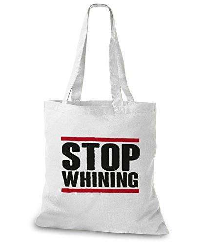 StyloBags Jutebeutel / Tasche Stop Whining Weiß