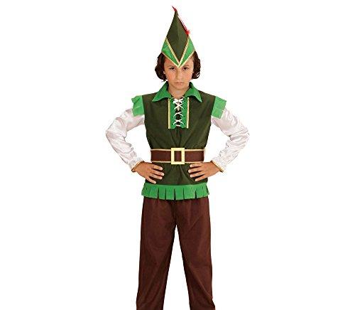 Widmann 73017 - Kinderkostüm Robin Hood, Oberteil, Hose, Hut, Feder und Gürtel, braun, Größe 140 (Kinder Für Halloween-kostüm Robin)
