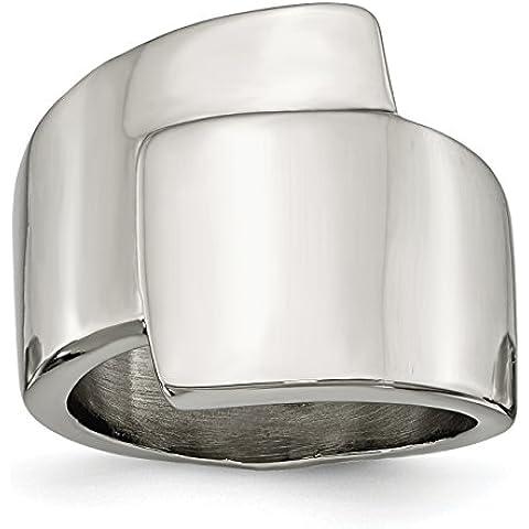 Acciaio inox lucido anello operato - Anello Operato