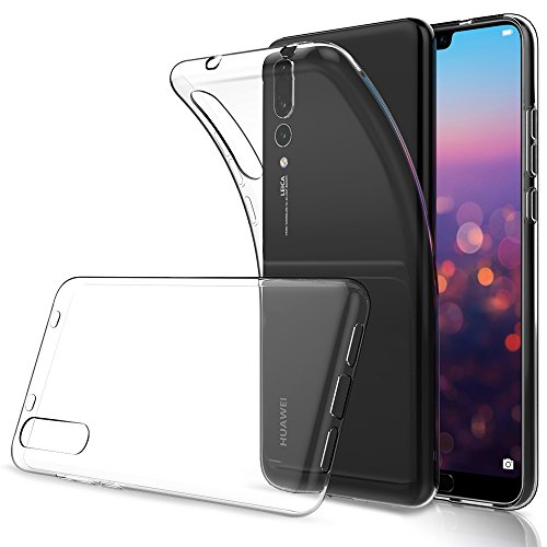 Simpeak Huawei P20 Pro Case, Soft TPU Transparent Fit Protector Case