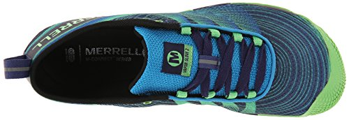 Merrell Vapor Glove 2, Chaussures de Trail Homme Multicolore (Racer Blue/Bright Green)
