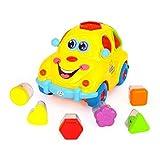 TOYMYTOY Baby Spielzeugauto mit Blöcken und Musik Kinderwagenspielzeug für Babykinder Kleinkinder Kindergeschenk