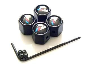 Generic yanHong - 150803–626 de 7yh0805yh rz pour étriers de 4 capuchons avec logo bMW m til emblem bMW m varo pow power bouchon de valve-noir-lot de 5 capuchons pour ventilkap lo étriers