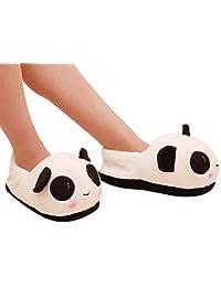 Voberry Women's Panda Winter Warm Plush Antiskid Indoor Home Slippers - 24.5 cm