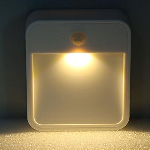 Carrie LED Wireless Bianco Piccole luci da parete a Smart con lampade luce notturna