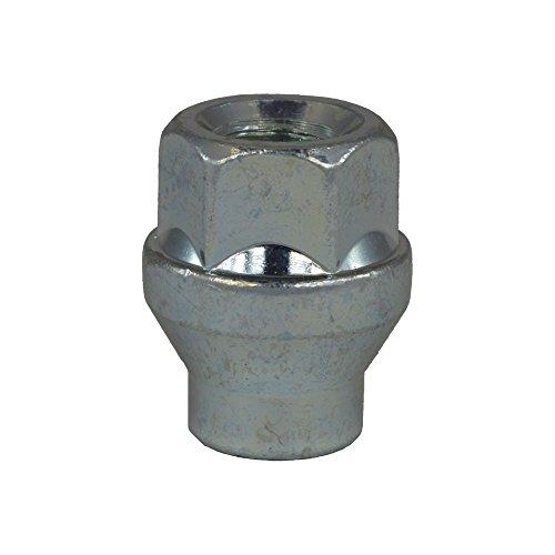 EvoCorse Écrou de Roue Ouvert à collerette M12x1.5, Clé 19, Longueur 29 mm, Blanc galvanisé, 4 pcs