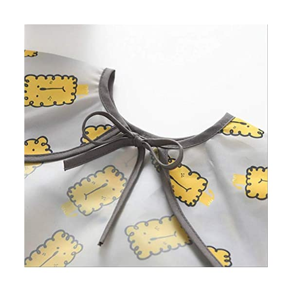 WPPKED Niños impermeable bib sin esposa impermeable con capucha bebé manga cortaimpermeable ropa de comida impermeable M… 3