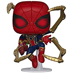 Funko- Pop Marvel: Endgame-Iron Spider w/NanoGauntlet Collectible Toy, (45138)