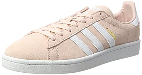 Adidas Campus, Baskets Basses Femme, Rose (Iced Pink/Footwear White/Rose Cr Y St A L White), 38 2/3 EU