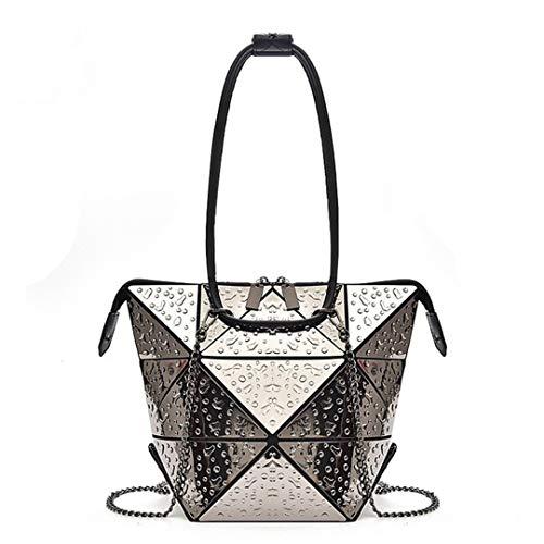 Mode-Geometrie Falten Frauen Taschen Bogey Rhombus Drops Nano Kette Tote