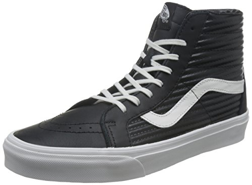 Vans Sk8-hi Reissue Scarpe Running Donna, Nero (Black/Blanc De Blancmoto Leather) 38 EU
