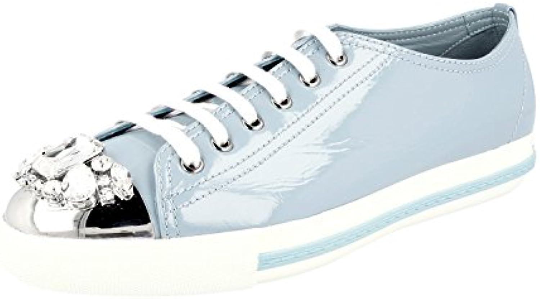 MIU MIU 5E8557 H27 F0D30 - Zapatillas de Cuero para Mujer