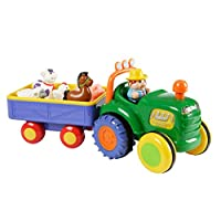 Kiddieland 024752 Motorised Old MacDonald Tractor and Trailer Age 12 Months plus