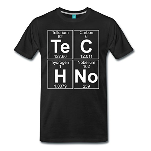 Techno Chemie Periodensystem Te C H No Männer Premium T-Shirt von Spreadshirt®, M, Schwarz