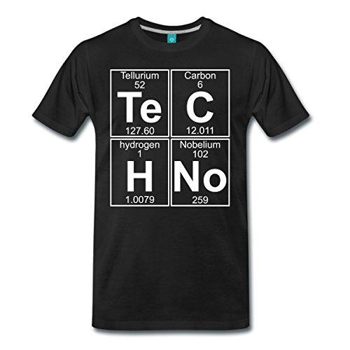Spreadshirt Techno Chemie Periodensystem Te C H No Männer Premium T-Shirt, XL, Schwarz