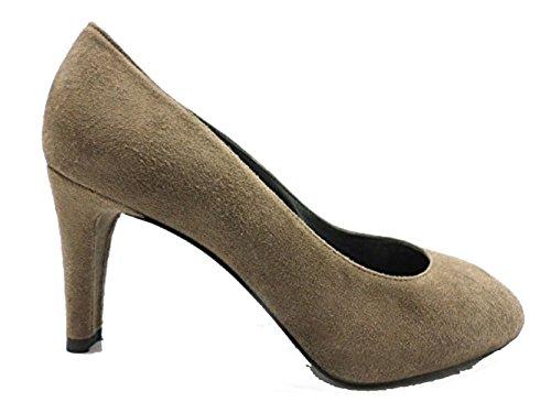 scarpe donna STUART WEITZMAN 38,5 EU decoltè tortora camoscio WH958