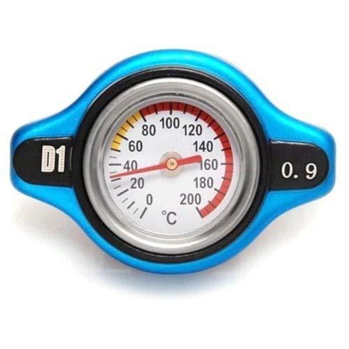 D1 Thermo Racing Capuchon de radiateur avec thermomètre à Eau-Noir 0.9 Bar