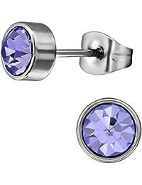 1 Paar Ohrstecker Herz Diamantiert Glitter Damen Edelstahl Schmuck Ohrringe