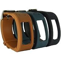 HopCentury One-Size Replacement Accesorio Garmin Vivofit Band pulsera correa con hebilla metálica para Garmin Vivofit 1 generación - 3 Pack