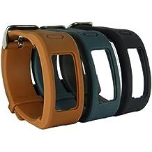 Talla única HopCentury Garmin Vivofit banda muñequera accesorio de la correa con hebilla de metal hebilla de repuesto para Garmin Vivofit 1generación–3unidades, color 3 Pack #2