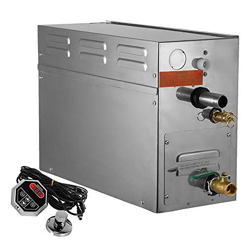 HUKOER Dampferzeuger 9KW Dampfbad Generator Digitalanzeige Sauna Dampferzeuger für Home & Commercial Dusche Dampfgerät Home SPA Dusche
