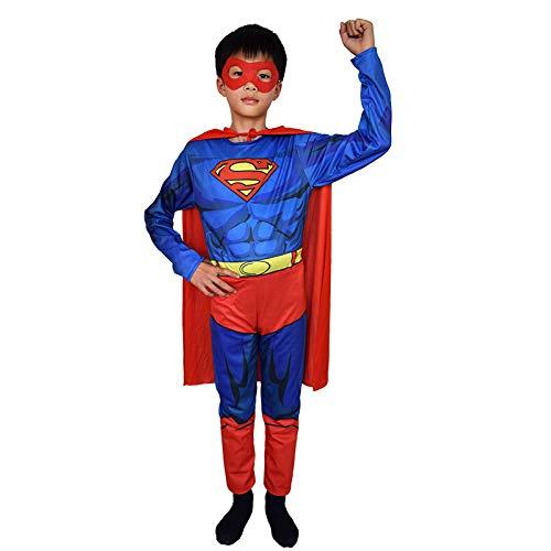 ASJUNQ Spider-Man Iron Man Enge Kleidung Kinder Rollenspiel Film Kostüm Thema Party Requisiten Halloween,H-S
