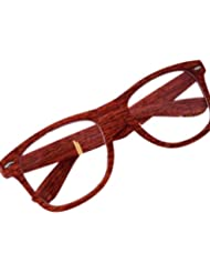 Nerd Clear Holz look Brille