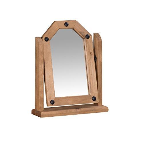 Mercers Furniture Corona Single Mirror, Wood, Antique Wax by Mercers Furniture (Single Mercer)