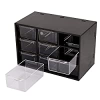 """Storage Organizer Features 9 Drawers To Hold Small Items Such As Earrings Beads Office Supplies Pills Clips Rubber Bands Pins And More. Specifications: """" Organizer Boxs Total Size (L*W*H): 7*4*4.7Inch/18*10*12Cm"""" Each Drawer\S Size (L*W*H): 8.8*5.5*3..."""