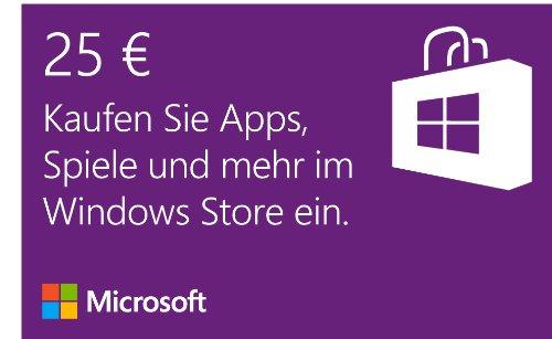 Microsoft Windows Store 25 EUR Guthaben [Download] (Microsoft-25-karte)