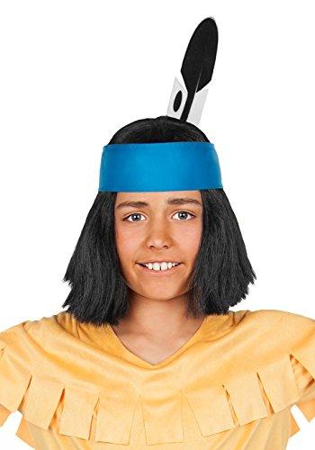 Maskworld - Yakari Kinderperücke schwarz - Indianer Perücke für Jungen - Lizenzprodukt Zeichentrickserie (Perücke Kinder Schwarz)