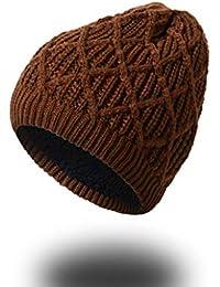 BABAYU Unisex Invernale Caldo Knit cap Hat Morbido e Accogliente Fodera in  Pile 52b91f9d84f7
