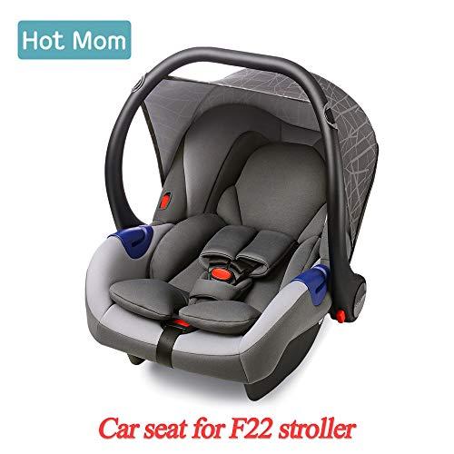 Hot Mom Autoschale Group 0+ entspricht EU standard ECE44, kompatible mit hot mom Kinderwagen modell F22, OHNE ISOFIX-BASE, Kinderwagen separat erhältlich -