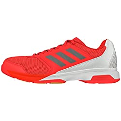 adidas Multido Essence, Zapatillas de Balonmano para Hombre, Rojo (Rojsol / Nocmét / Ftwbla), 40 2/3 EU