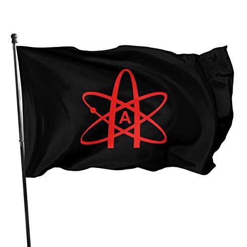 AIZENN Atheist Atom Symbol Outdoor Flagge 3x152,4 m Deko Flagge für Garten Zuhause Party