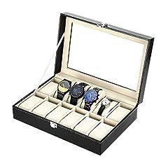 Idea Regalo - Zogin Scatola Porta Orologi con 12 Scompartimenti per Tenere gli Orologi in Ordine