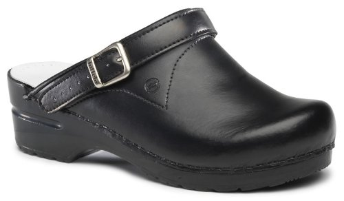 World of Clogs.com Toffeln Flessibile Zoccoli 0723 Flexible Professionale Allattamento Zoccoli - Black Nero