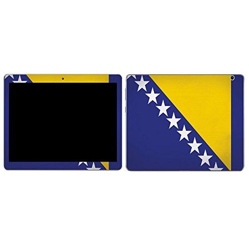 Preisvergleich Produktbild Huawei Mediapd M3 Lite 10.1 Tablet Design Schutzfolie Designfolie Skin Faceplates Schutz Folie Motiv Bosnien Herzegowina (Herstellung in Deuschland )