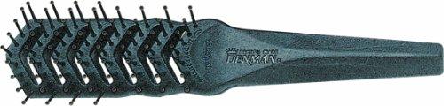 Denman Haarbürste D100 Freeflow 2000 Top Soft, schwarze Föhnbürste mit Noppen, 7-reihig