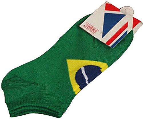 Lot de 2 Flag chaussettes en coton chaussettes pour hommes Brésil