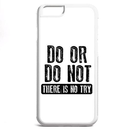 Smartcover Case Do or Do Not z.B. für Iphone 5 / 5S, Iphone 6 / 6S, Samsung S6 und S6 EDGE mit griffigem Gummirand und coolem Print, Smartphone Hülle:Samsung S6 EDGE weiss Iphone 6 / 6S weiss